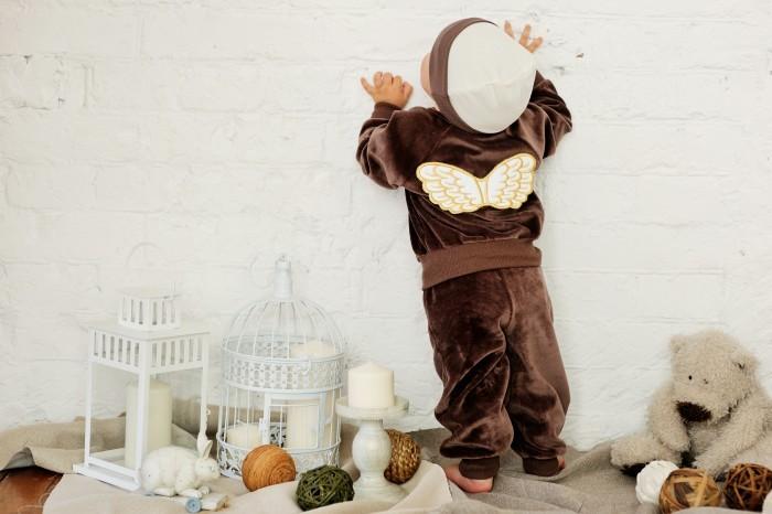 Брюки, джинсы и штанишки Lucky Child Брючки детские из велюра Ангелочки пижамы lucky child пижама
