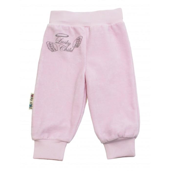 Штанишки и шорты Lucky Child Брючки детские из велюра Ангелочки цена 2017
