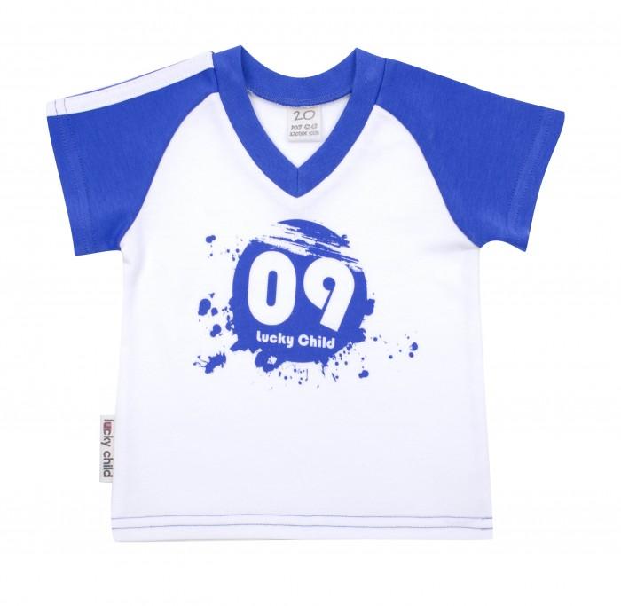 Футболки и топы Lucky Child Футболка для мальчика Летний марафон 19-262