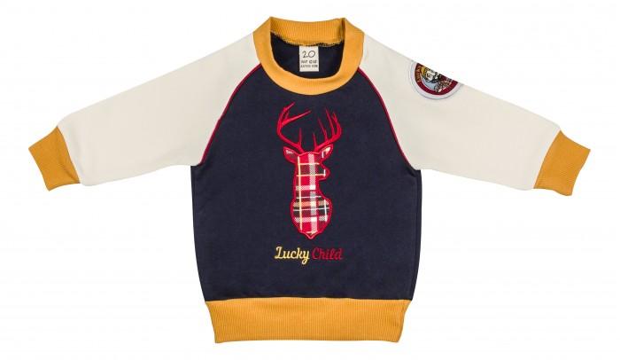 Толстовки, свитшоты, худи Lucky Child Кофточка Мужички 27-12ф пижамы lucky child пижама