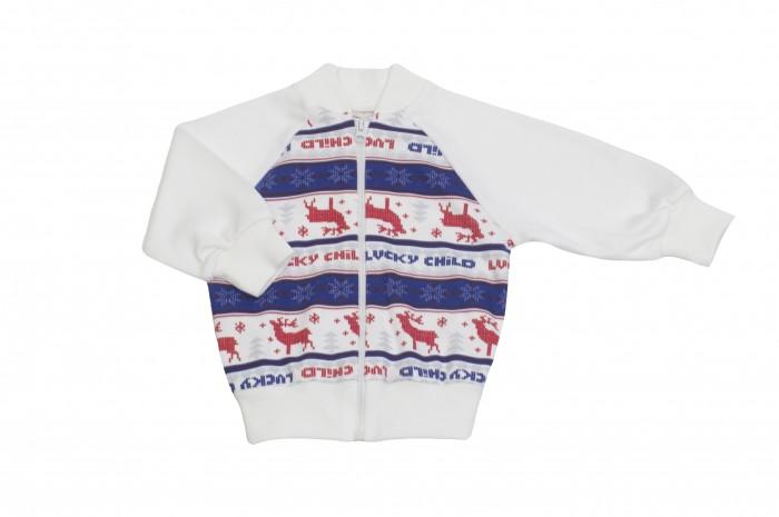 Распашонки и кофточки Lucky Child Кофточка на молнии без капюшона Скандинавия 10-18 пижамы lucky child пижама
