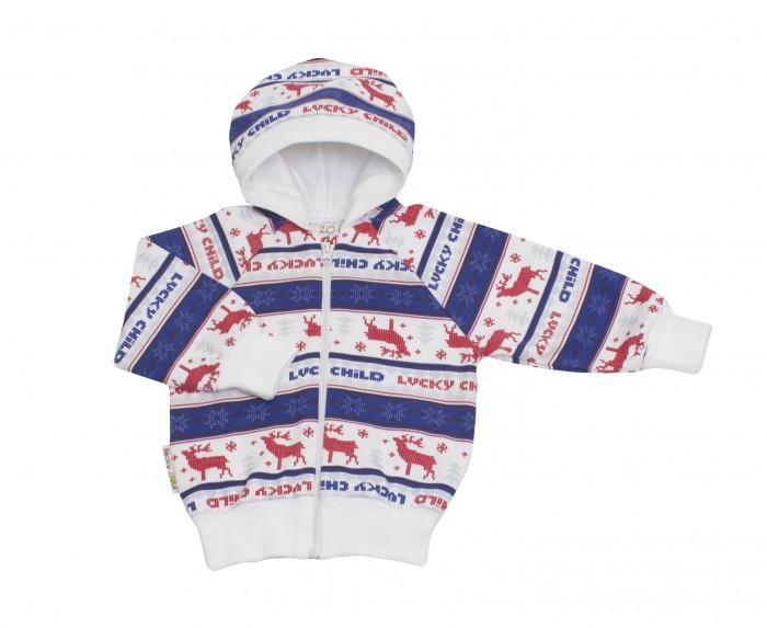 Толстовки, свитшоты, худи Lucky Child Кофточка на молнии с капюшоном футер Скандинавия 10-17ф пижамы lucky child пижама