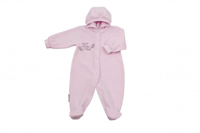 Комбинезоны и полукомбинезоны Lucky Child Комбинезон детский с капюшоном Ангелочки комбинезон lucky child ангелочки розовый размер 24 74 80
