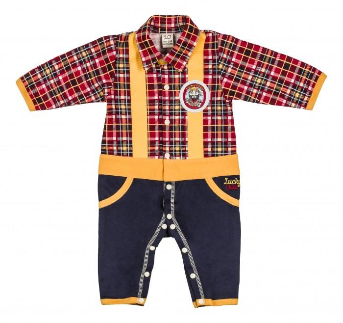 Комбинезоны и полукомбинезоны Lucky Child Комбинезон Мужички 27-1ф пижамы lucky child пижама