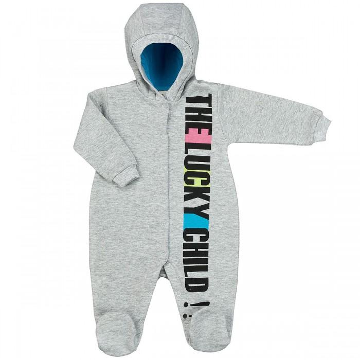 Комбинезоны и полукомбинезоны Lucky Child Комбинезон с капюшоном Спортивная футер пижамы lucky child пижама