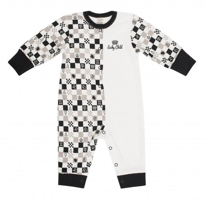 Комбинезоны и полукомбинезоны Lucky Child Комбинезон Шахматный турнир 29-1 пижамы lucky child пижама