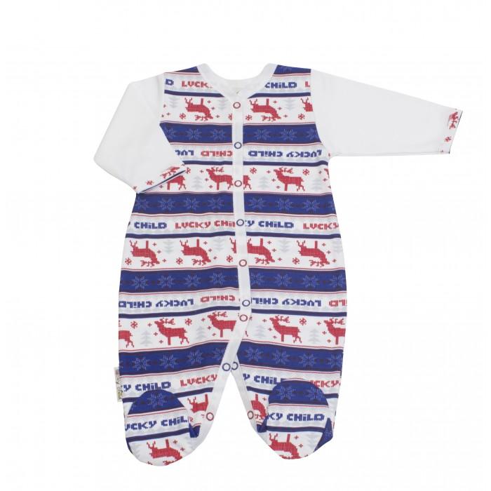 Комбинезоны и полукомбинезоны Lucky Child Комбинезон Скандинавия 10-1ф пижамы lucky child пижама