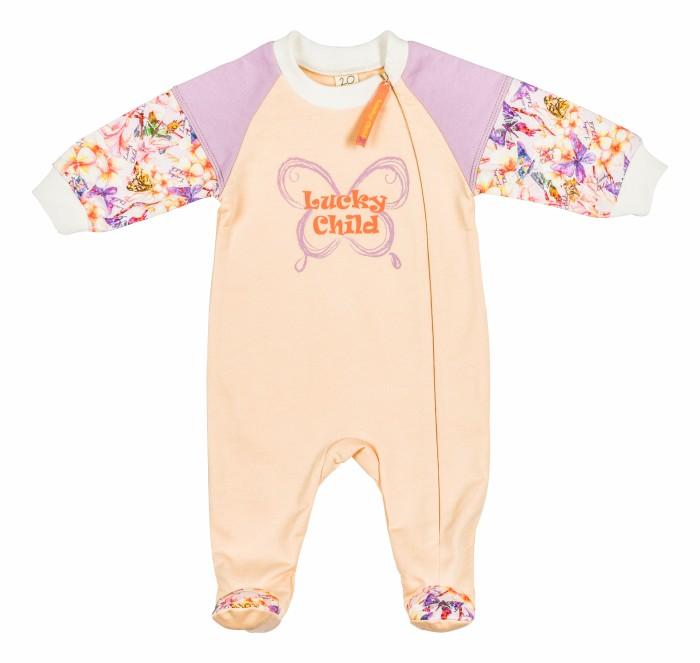 Комбинезоны и полукомбинезоны Lucky Child Комбинезон Тропический рай 26-13 пижамы lucky child пижама