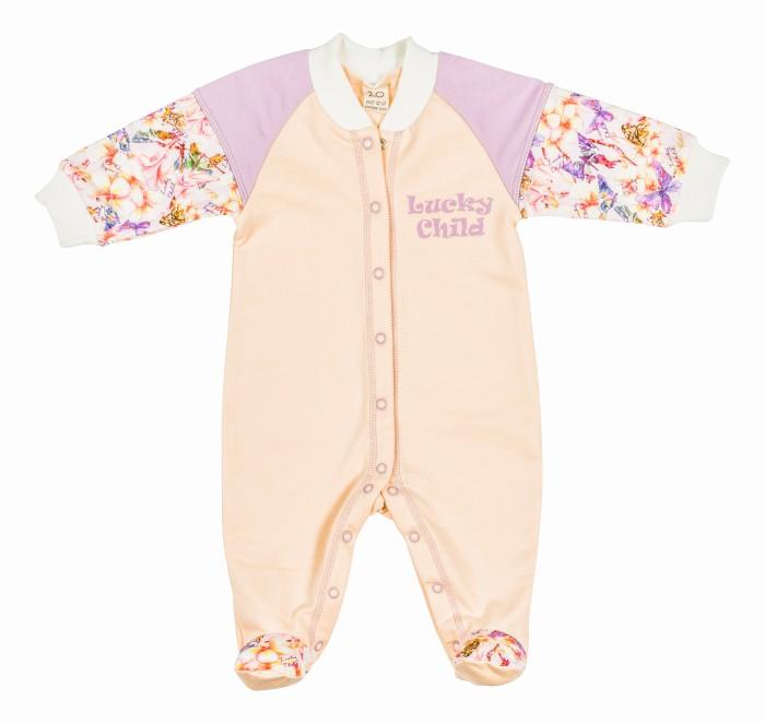 Комбинезоны и полукомбинезоны Lucky Child Комбинезон Тропический рай 26-1 пижамы lucky child пижама