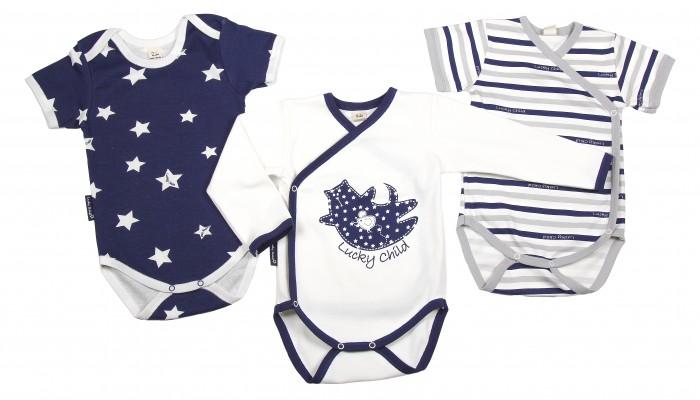 Детская одежда , Боди и песочники Lucky Child Комплект боди 3 шт. Котики арт: 205629 -  Боди и песочники
