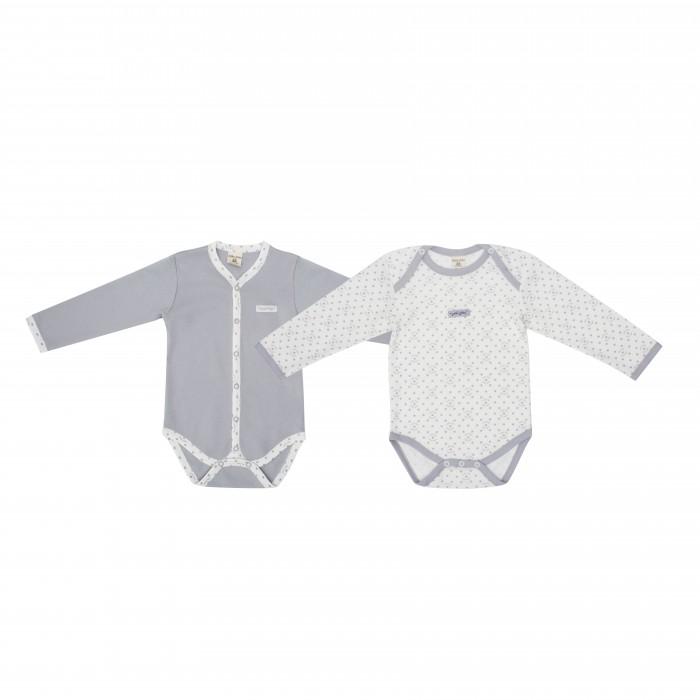 Детская одежда , Боди и песочники Lucky Child Комплект боди длинный рукав 2 шт. 33-5М арт: 238840 -  Боди и песочники