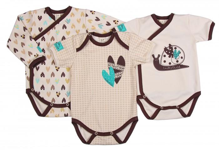 Детская одежда , Боди и песочники Lucky Child Комплект детский Боди 3 шт. Улитки арт: 209802 -  Боди и песочники