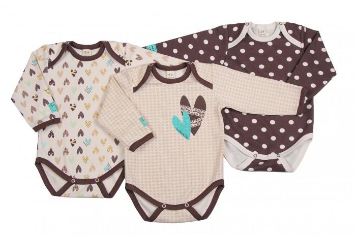 Детская одежда , Боди и песочники Lucky Child Комплект детский Боди с длинным рукавом 3 шт. Улитки арт: 209781 -  Боди и песочники