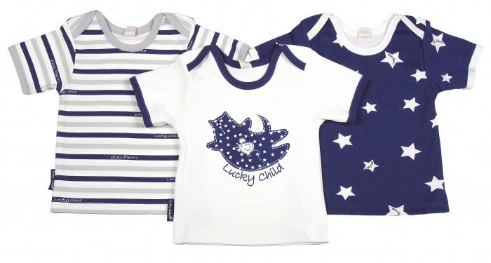 Футболки и топы Lucky Child Комплект детский Футболка 3 шт. Котики пижамы lucky child пижама