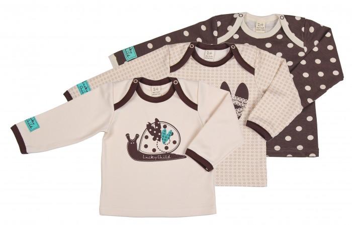 Детская одежда , Распашонки и кофточки Lucky Child Комплект детский Кофточка 3 шт. Улитки арт: 209826 -  Распашонки и кофточки