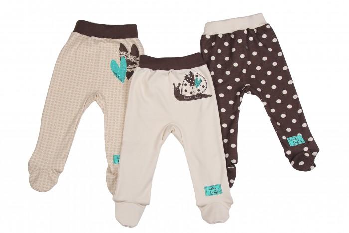 Детская одежда , Ползунки Lucky Child Комплект детский Ползунки 3 шт. Улитки арт: 209847 -  Ползунки