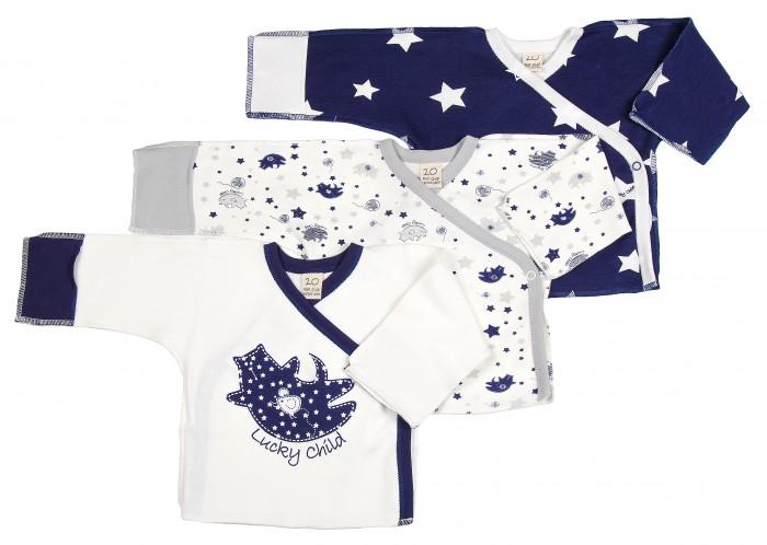 Распашонки и кофточки Lucky Child Комплект детский Распашонка 3 шт. Котики пижамы lucky child пижама