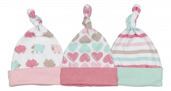 Шапочки и чепчики Lucky Child Комплект детский Шапочка 3 шт. Овечки пижамы lucky child пижама