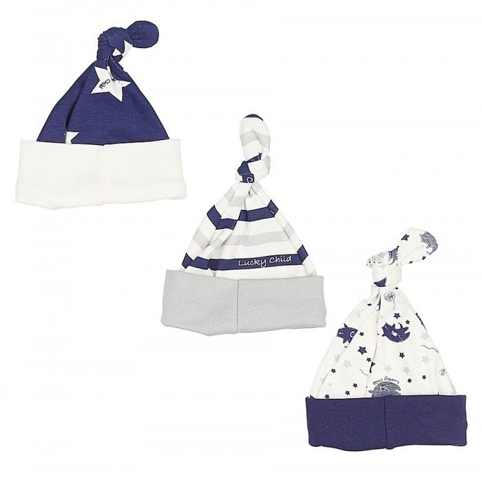 Шапочки и чепчики Lucky Child Комплект детский Шапочка  3 шт. Котики пижамы lucky child пижама