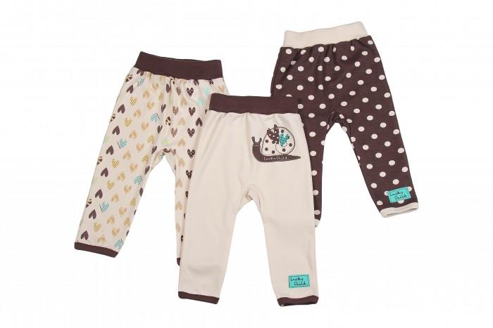 Брюки, джинсы и штанишки Lucky Child Комплект детский Штанишки 3 шт. Улитки брюки котмаркот штанишки звездное небо
