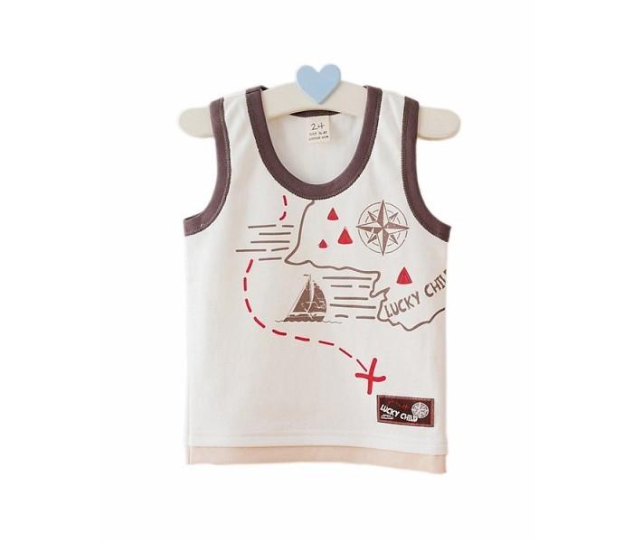 Футболки и топы Lucky Child Майка-борцовка Дальние берега 22-251 пижамы lucky child пижама