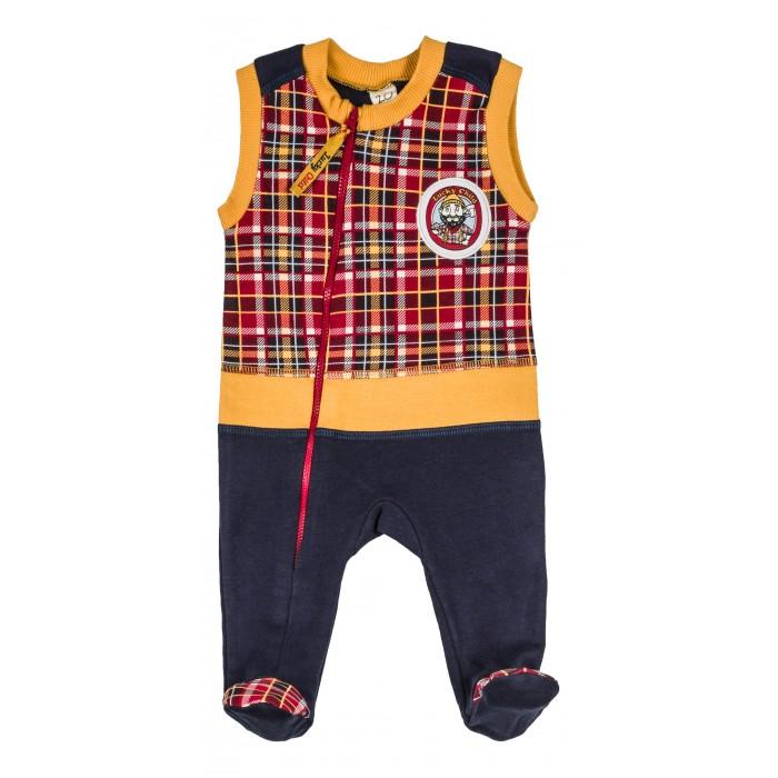 Комбинезоны и полукомбинезоны Lucky Child Ползунки высокие Мужички 27-2 пижамы lucky child пижама