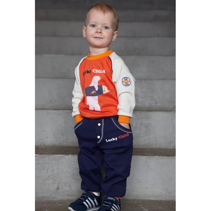 Фото Брюки, джинсы и штанишки Lucky Child Штанишки для мальчика футер Умка 32-11ф
