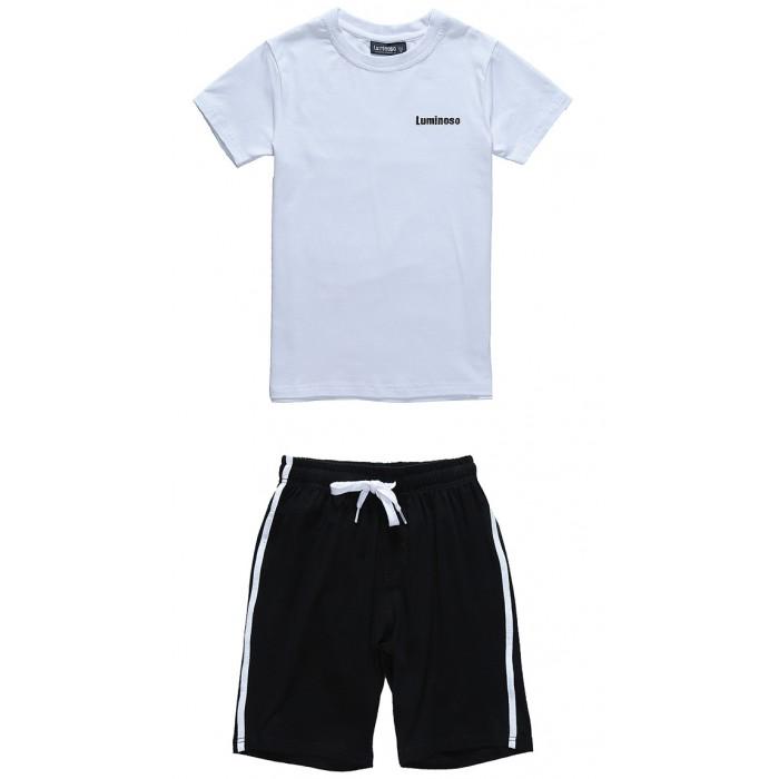 Школьная форма Luminoso Комплект для мальчика: футболка и шорты 202709 шорты купальные для мальчика luminoso цвет сине бирюзовый 717065 размер 134