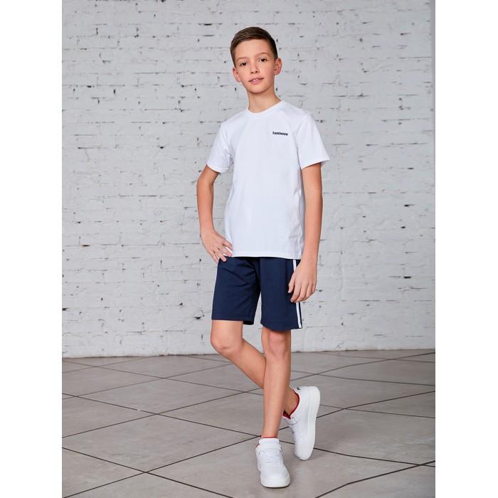 Школьная форма Luminoso Комплект для мальчика (футболка и шорты) 927019 шорты купальные для мальчика luminoso цвет сине бирюзовый 717065 размер 134