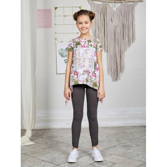 Luminoso Костюм для девочки (футболка, лосины) Тропический остров