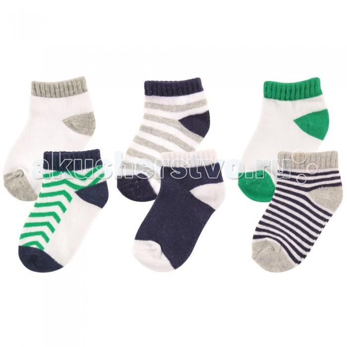 Колготки, носки, гетры Luvable Friends Носочки 6 пар носочки luvable friends 22020 2 пары 83 103 см 18 36 голубые