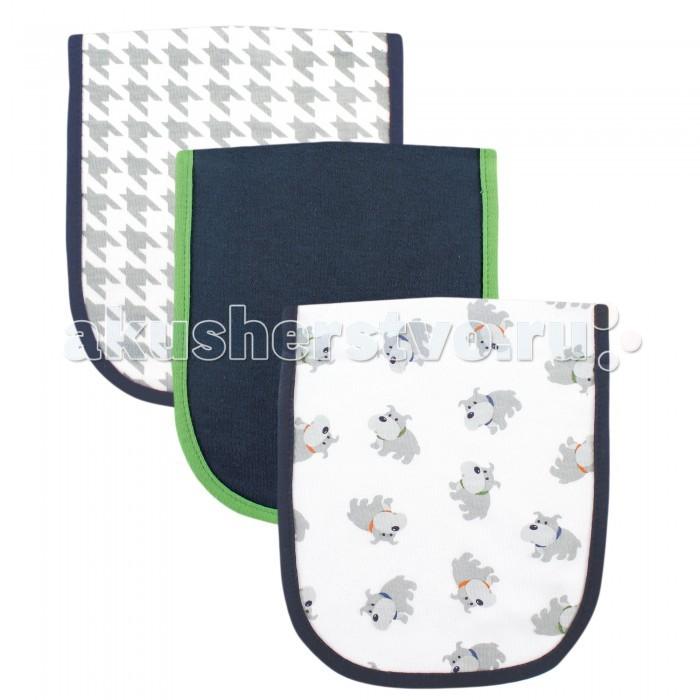 Текстильные салфетки Luvable Friends Салфетки для кормления 3 шт. 42х17 см салфетки luvable friends салфетка 3 шт