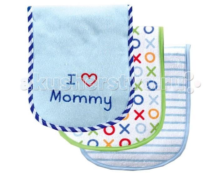 Текстильные салфетки Luvable Friends Салфетки для кормления Love 3 шт. салфетки duni салфетки duni комплект 2 шт