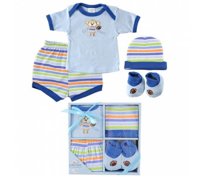 Комплекты детской одежды Luvable Friends Подарочный набор (4 предмета) 07015 комплекты детской одежды luvable friends подарочный набор расти со мной 8 предметов 07072