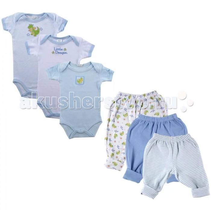 Комплекты детской одежды Luvable Friends Подарочный набор 3+3 (6 предметов) 07025 комплекты детской одежды luvable friends подарочный набор расти со мной 8 предметов 07072