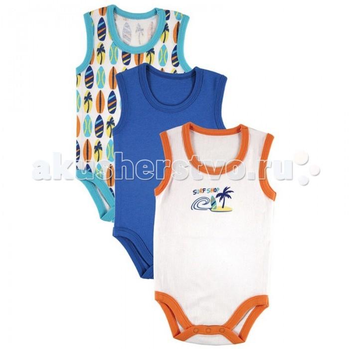 Боди и песочники Luvable Friends Боди-майка 3 шт. (интерлок) одежда для новорождённых