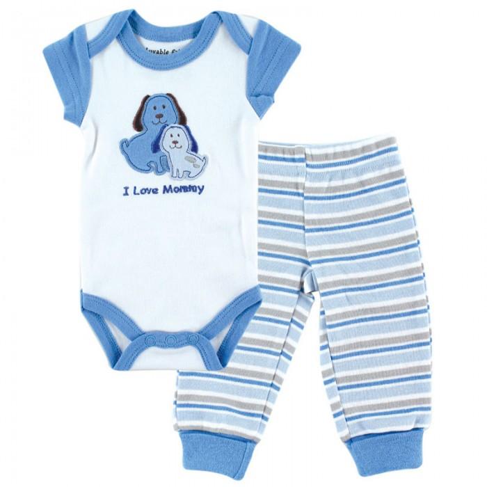 Комплекты детской одежды Luvable Friends Комплект Боди и штанишки (2 предмета) 69020 комплекты детской одежды luvable friends подарочный набор расти со мной 8 предметов 07072