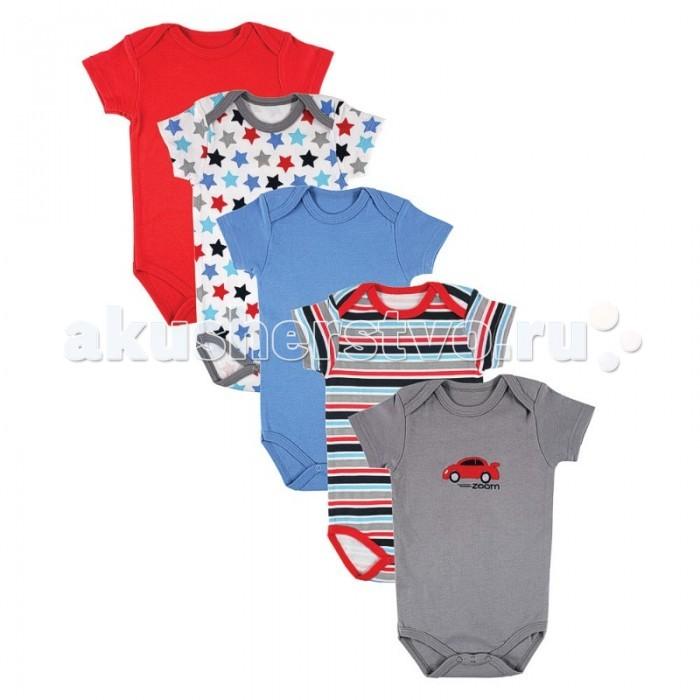 Детская одежда , Боди и песочники Luvable Friends Комплект боди Машинка 5 шт. арт: 19642 -  Боди и песочники