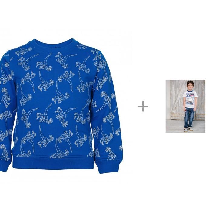Джемперы и кардиганы M-Bimbo Джемпер для мальчика с брюками джинсовыми Sweet Berry Парусный спорт 913037