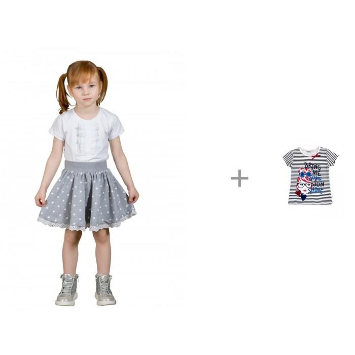 M-Bimbo Юбка для девочки Горошек с футболкой Sweet Berry Яркое настроение 914045