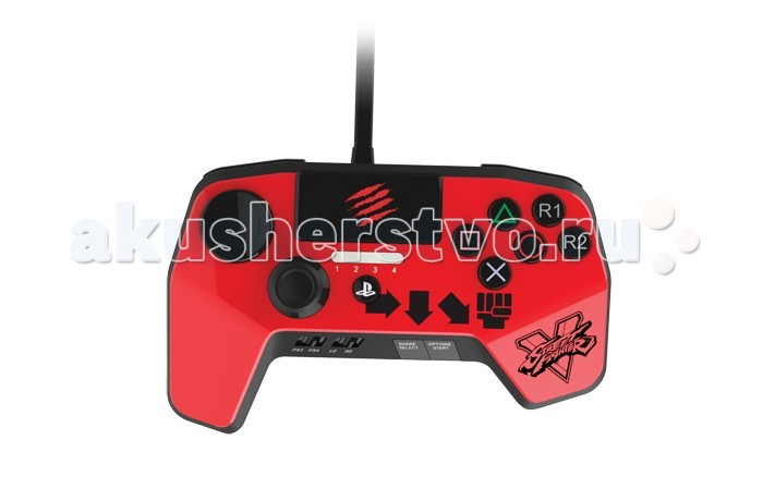 Джойстики и геймпады Mad Catz PS 4 Аркадный пад Street Fighter V FightPad Pro mad catz street fighter v te s аркадный стик д��я ps3 ps4