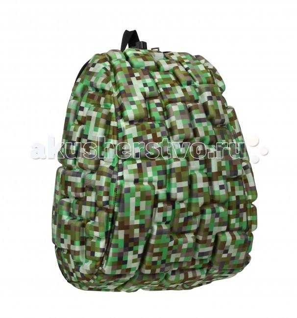 MadPax Рюкзак Blok HalfРюкзак Blok HalfРюкзак Blok Half MadPax  Легкий и вместительный рюкзак с одним основным отделением с застежкой на молнии. В основное отделение с легкостью входит ноутбук размером диагонали 13 дюймов, iPad и формат А4.   Незаменимый аксессуар как для активного городского жителя, так и для школьников и студентов.   Широкие лямки можно регулировать для наиболее удобной посадки, а мягкая ортопедическая спинка делает ношение наиболее удобным и комфортным.  Материал - 100% полиспандекс  Размер - 36х30х15 см  Появление этой аксессуарной марки взорвало мир моды! Рюкзаки от MadPax поистине созданы для ярких неординарных личностей. Если вы хотите, чтобы вы сами или ваш ребенок выделялись из толпы, если для вас важно подчеркнуть активную жизненную позицию, тогда этот бренд – для вас! Рюкзаки MadPax подходят как детям, так и взрослым. Коллекции MadPax – это рюкзаки с шипами, пузырями или фантазийными дорожками, напоминающими о тетрисе. Для производства этих уникальных вещей используются самые передовые полимерные материалы. Можете быть спокойны – продукция проходит тщательный контроль качества, а шипы и пузыри мягкие на ощупь.<br>
