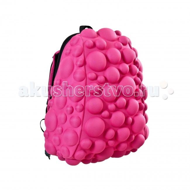 MadPax Рюкзак Bubble HalfРюкзак Bubble HalfРюкзак Bubble Half MadPax  Легкий и вместительный рюкзак с одним основным отделением с застежкой на молнии. В основное отделение с легкостью входит ноутбук размером диагонали 13 дюймов, iPad и формат А4.   Незаменимый аксессуар как для активного городского жителя, так и для школьников и студентов.   Широкие лямки можно регулировать для наиболее удобной посадки, а мягкая ортопедическая спинка делает ношение наиболее удобным и комфортным.  Материал - 100% полиспандекс  Размер - 36х30х15 см  Появление этой аксессуарной марки взорвало мир моды! Рюкзаки от MadPax поистине созданы для ярких неординарных личностей. Если вы хотите, чтобы вы сами или ваш ребенок выделялись из толпы, если для вас важно подчеркнуть активную жизненную позицию, тогда этот бренд – для вас! Рюкзаки MadPax подходят как детям, так и взрослым. Коллекции MadPax – это рюкзаки с шипами, пузырями или фантазийными дорожками, напоминающими о тетрисе. Для производства этих уникальных вещей используются самые передовые полимерные материалы. Можете быть спокойны – продукция проходит тщательный контроль качества, а шипы и пузыри мягкие на ощупь.<br>