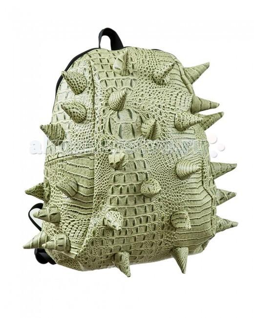 MadPax Рюкзак Gator HalfРюкзак Gator HalfРюкзак Gator Half MadPax  Легкий и вместительный рюкзак с одним основным отделением с застежкой на молнии. В основное отделение с легкостью входит ноутбук размером диагонали 13 дюймов, iPad и формат А4.   Незаменимый аксессуар как для активного городского жителя, так и для школьников и студентов.   Широкие лямки можно регулировать для наиболее удобной посадки, а мягкая ортопедическая спинка делает ношение наиболее удобным и комфортным.  Материал - 100% поливинил  Размер - 35х30х15 см  Появление этой аксессуарной марки взорвало мир моды! Рюкзаки от MadPax поистине созданы для ярких неординарных личностей. Если вы хотите, чтобы вы сами или ваш ребенок выделялись из толпы, если для вас важно подчеркнуть активную жизненную позицию, тогда этот бренд – для вас! Рюкзаки MadPax подходят как детям, так и взрослым. Коллекции MadPax – это рюкзаки с шипами, пузырями или фантазийными дорожками, напоминающими о тетрисе. Для производства этих уникальных вещей используются самые передовые полимерные материалы. Можете быть спокойны – продукция проходит тщательный контроль качества, а шипы и пузыри мягкие на ощупь.<br>