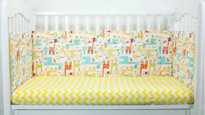 Бортик в кроватку Magic City Абстракция с жирафами 35x60 см