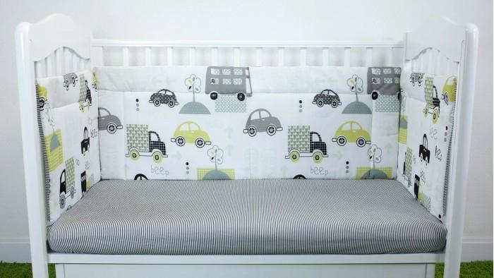 Бортик в кроватку Magic City Городской транспорт 45x60 см
