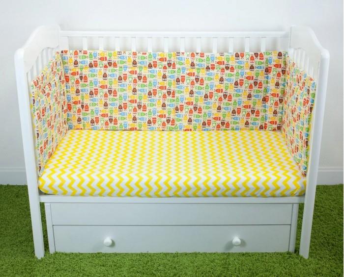 Бортик в кроватку Magic City Совы на отдыхе 40x60 см