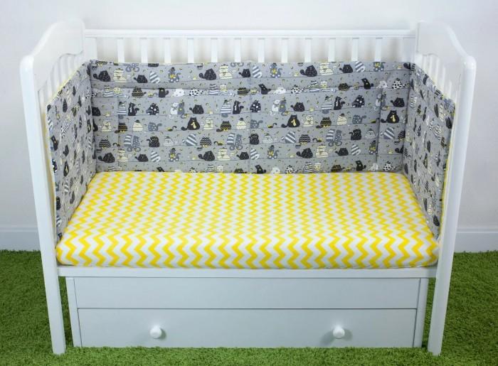 Бортики в кроватку Magic City Вечерние коты 30x60 см