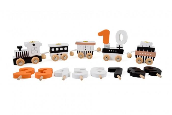 Деревянная игрушка Magni Паровозик с цифрами Birthday