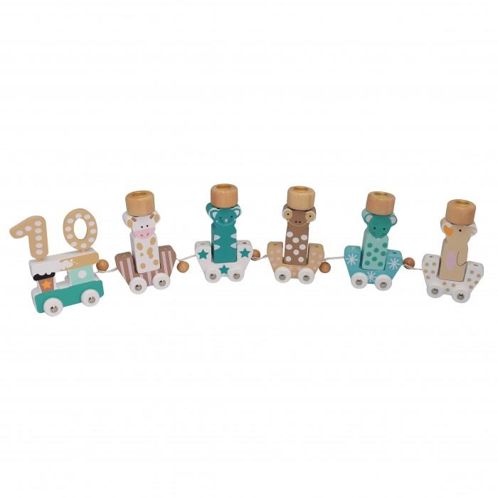 Деревянная игрушка Magni Паровозик с животными Birthday